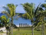 Moáis en la playa de Anakena