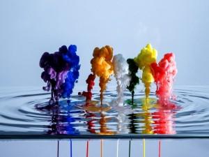 Postal: Tinta de colores