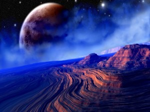 Postal: Amanecer en otro planeta