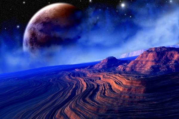 Amanecer en otro planeta