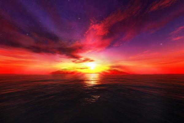 Brillante luz en el cielo