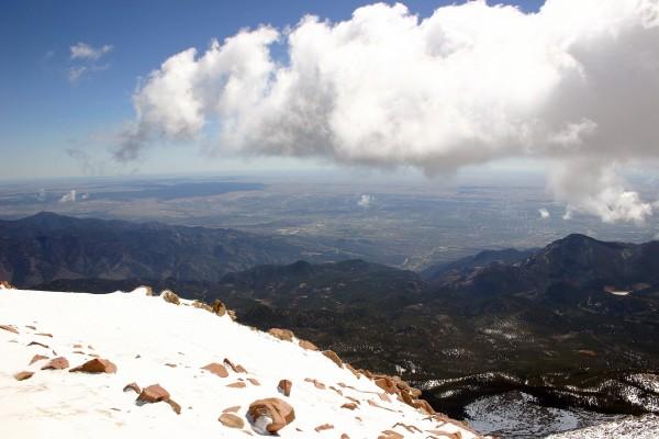 Vistas desde lo alto de la montaña