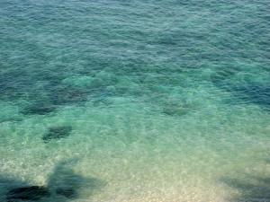 Postal: Agua de mar brillante
