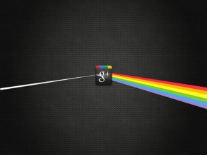 El prisma de Google Plus, descomponiendo la luz en colores