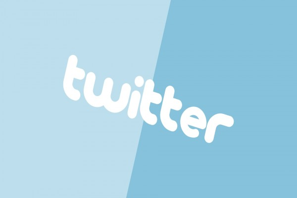 Twitter en dos tonos de azul