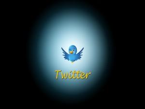 Postal: El pajarito de Twitter guiñando un ojo