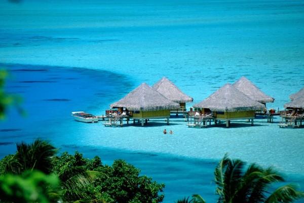 Un baño en Bora Bora