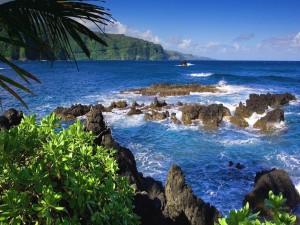 Rocas en la costa del mar