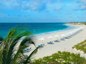 Postal: Playa de arenas blancas