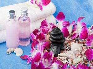 Postal: Elementos para un día de spa