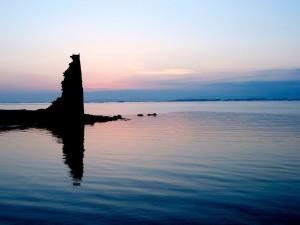 Crepúsculo en el mar