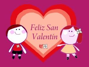 Postal: Feliz San Valentín