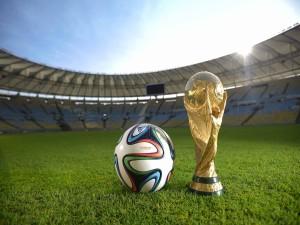 Copa y balón del Mundial 2014
