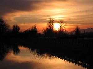 Postal: El sol de la tarde