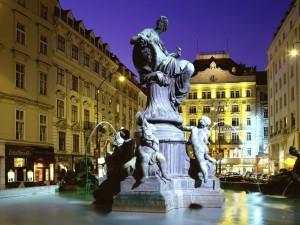 La fuente Donnerbrunnen en Viena