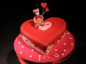 Postal: Tarta para el Día de San Valentín
