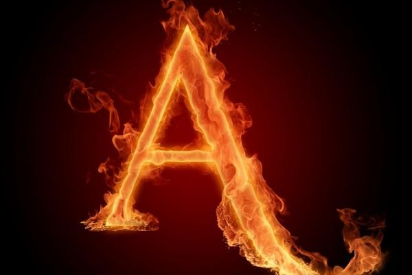 Fuego en la letra A