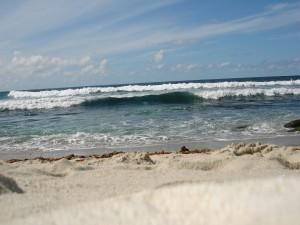 Postal: El mar visto desde la playa