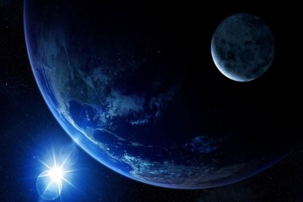 Luz brillante cerca de la Tierra