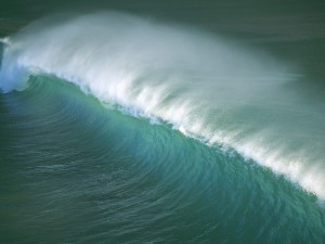 Postal: Ola en el mar