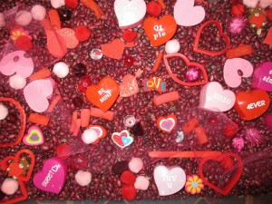 Postal: Corazones con mensajes para San Valentín