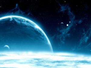 Postal: Luminosidad en el espacio