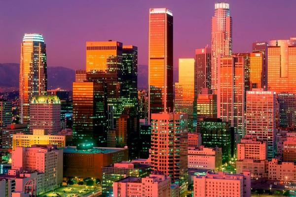 El centro de Los Ángeles, California
