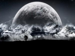 Planeta en blanco y negro