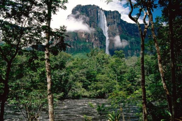 Vista del Salto Ángel, Venezuela
