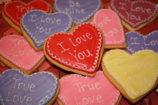Galletas para el Día de San Valentín