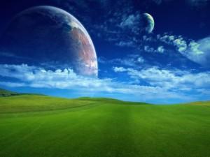 Postal: Dos planetas cercanos