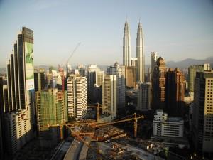 Postal: Vista de las Torres Petronas en Kuala Lumpur
