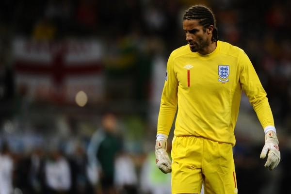 El portero David James, selección de fútbol de Inglaterra