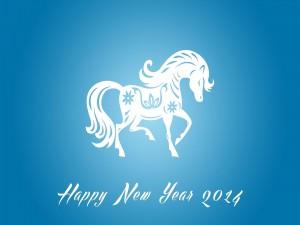 Postal: Feliz Año Nuevo del Caballo