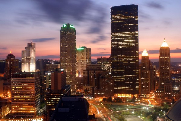 Noche en la ciudad de Pittsburgh