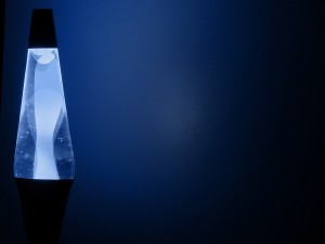 Postal: Lámpara con luz