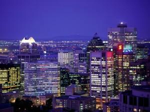 Luces en la noche de Montreal
