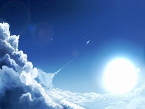 Postal: En el cielo