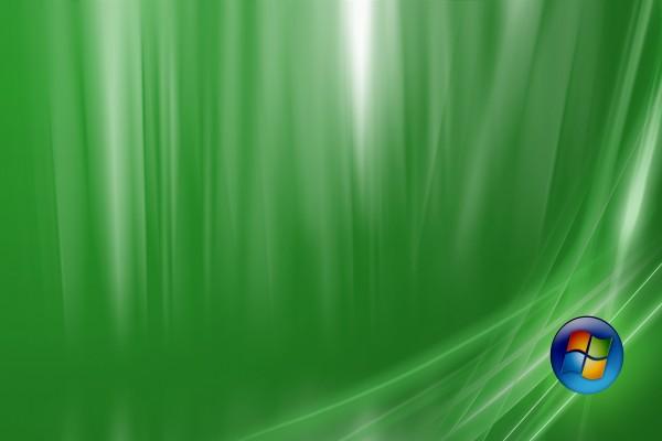 Logo de Windows en fondo verde