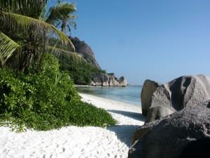 Arena blanca en la playa
