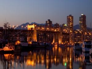 Postal: Puente en el puerto