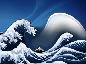 Postal: Grandes olas