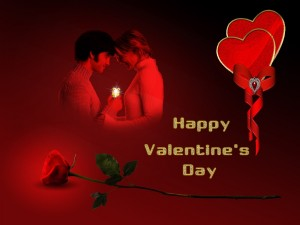 """Postal: Brillante """"Feliz Día de San Valentín"""""""