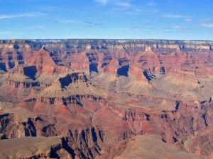 Postal: Cielo azul en el Gran Cañón