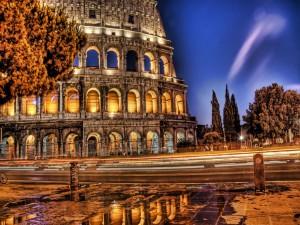 Postal: Llegando al Coliseo