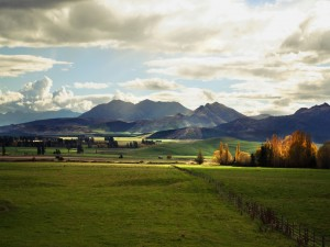 Postal: Montañas lejanas