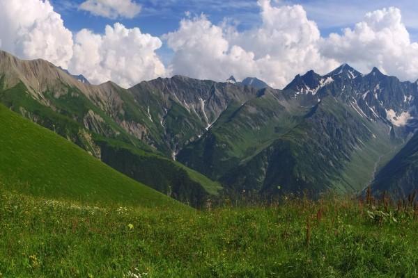 Preciosas vistas de las montañas