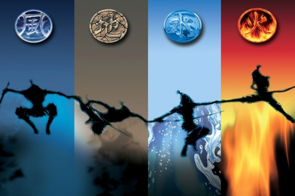 Unión de los cuatro elementos