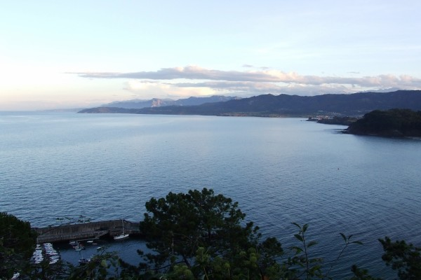 Vistas del mar Cantábrico desde Lastres (Asturias)
