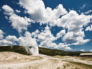 Humo en Yellowstone
